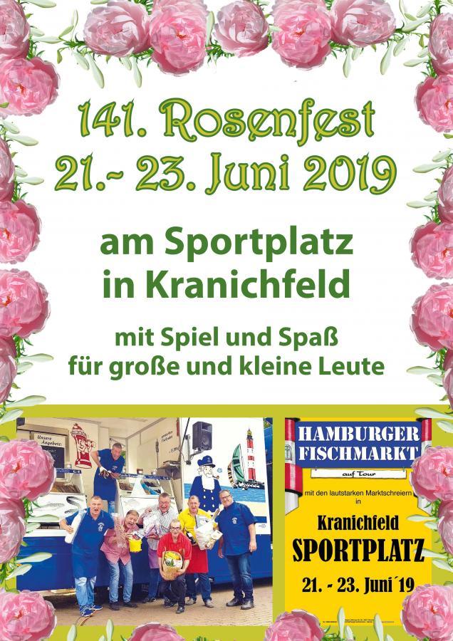 Plakat rosenfest- Marktschreier