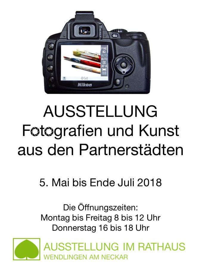 Plakat Ausstellung Partnerschaftsfeierlichkeiten 2018