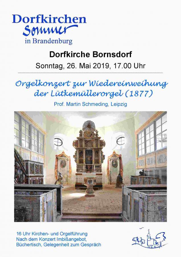 Plakat Bornsdorf, Orgel