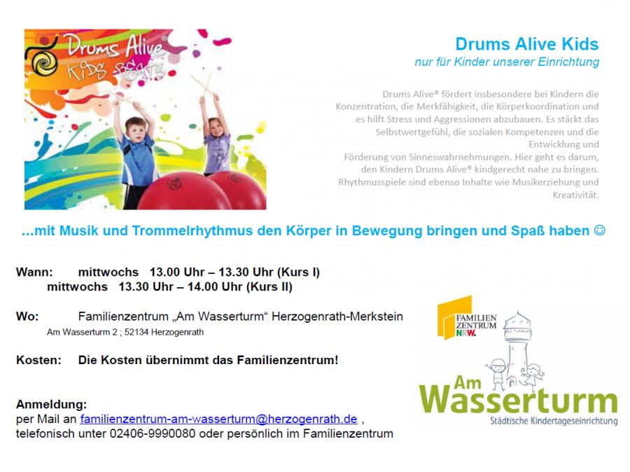 Plakat Drums Alive Webseite