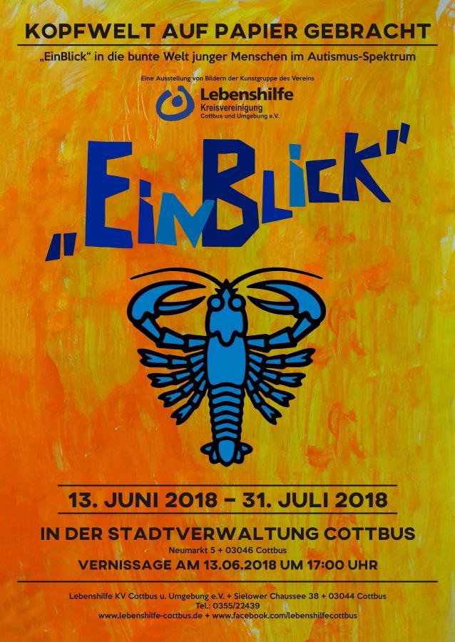 EinBlick Ausstellung Einladung