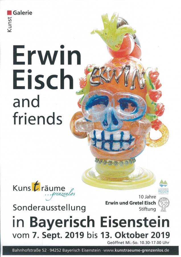 Plakat Erwin Eisch Sonderausstellung Kunsträume Grenzenlos