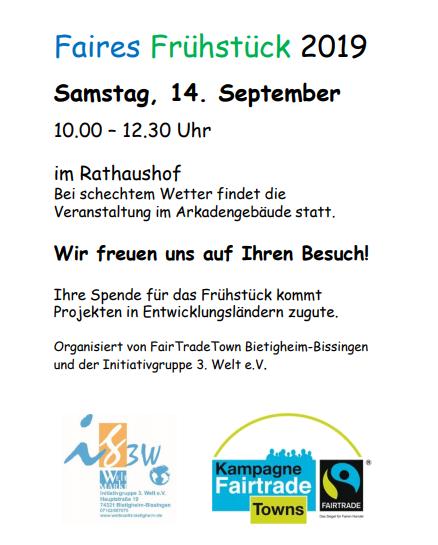 Plakat Faires Frühstück 2019