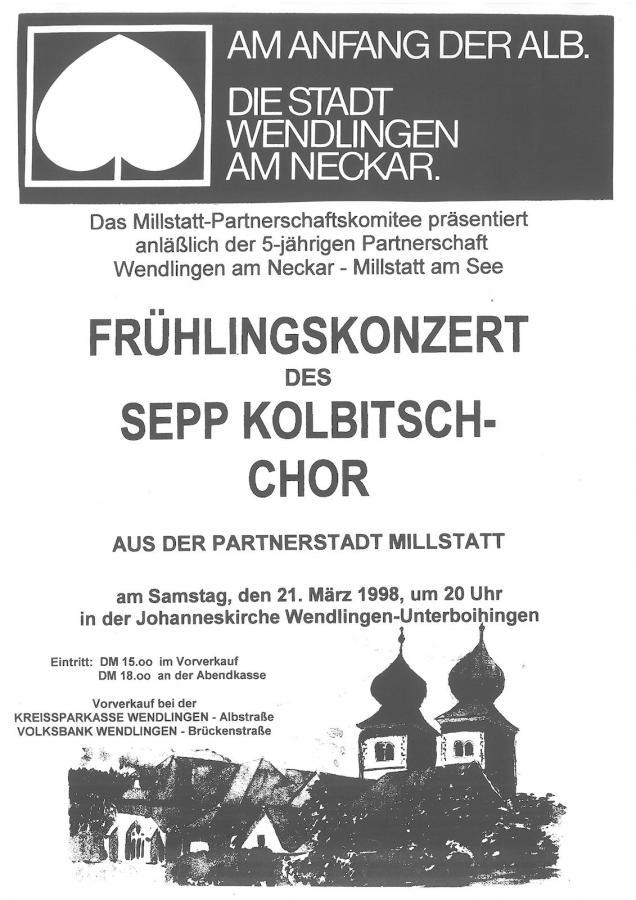 Plakat Frühlingskonzert 21-03-1998