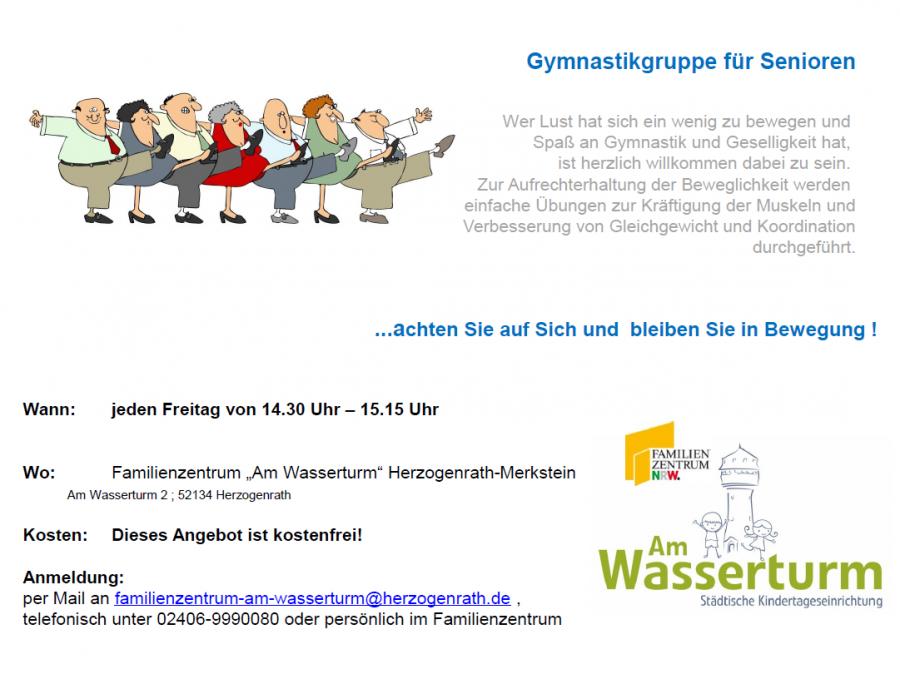 Plakat Gymnastikgruppe für Senioren Webseite 1