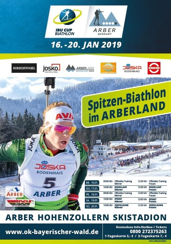 Plakat IBU Cup Biathlon 2019