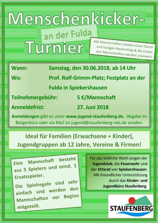 Menschenkicker-Turnier an der Fulda 2018