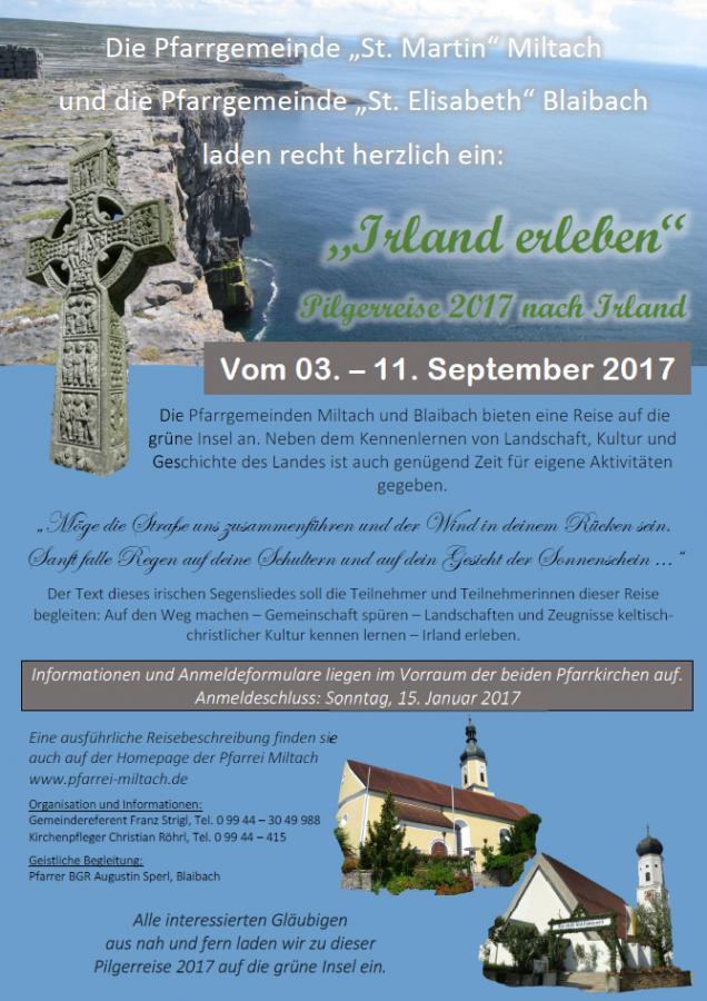 Plakat Irlandreise 2017