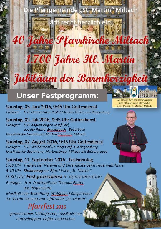 Jubiläum Miltach 2016