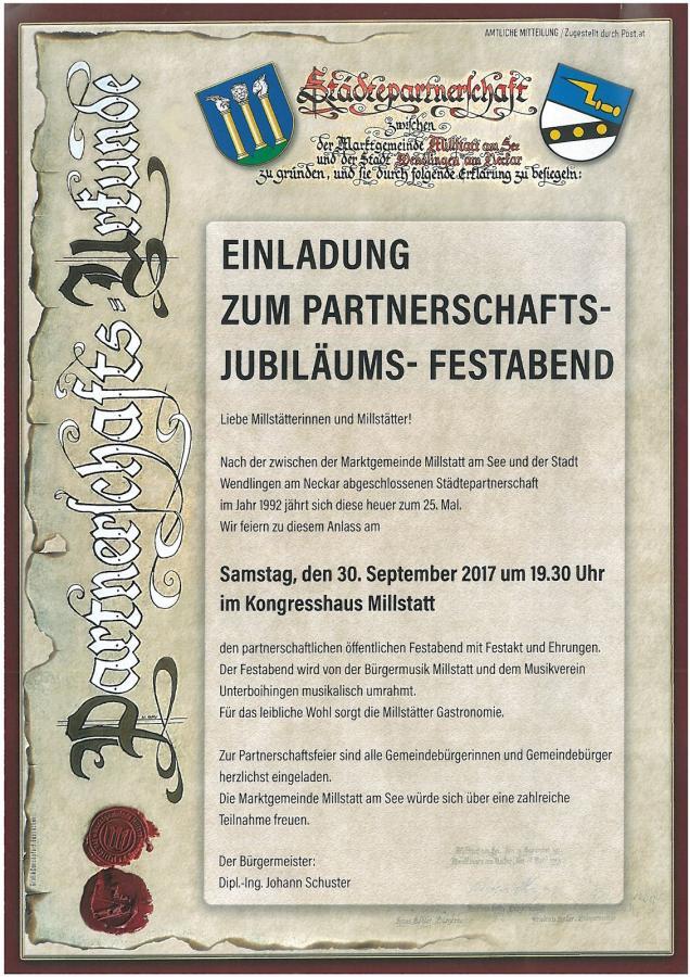Plakat Jubiläumsfestabend Millstatt 30-09-2017