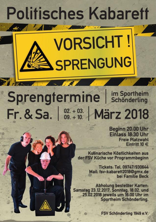 Politisches Kabaret am 2./3. und 9./10. März in Schönderling