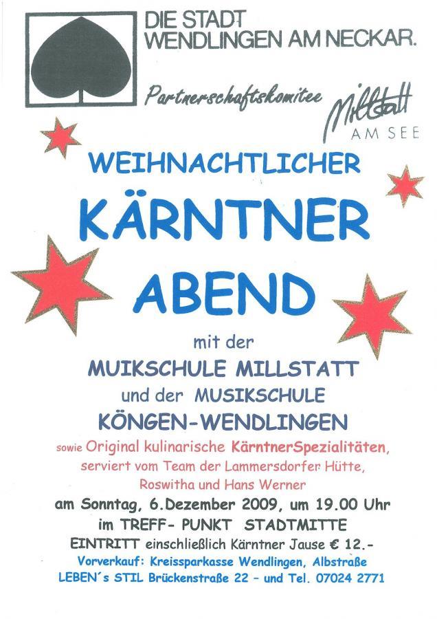 Plakat Kärntner Abend 06-12-2009