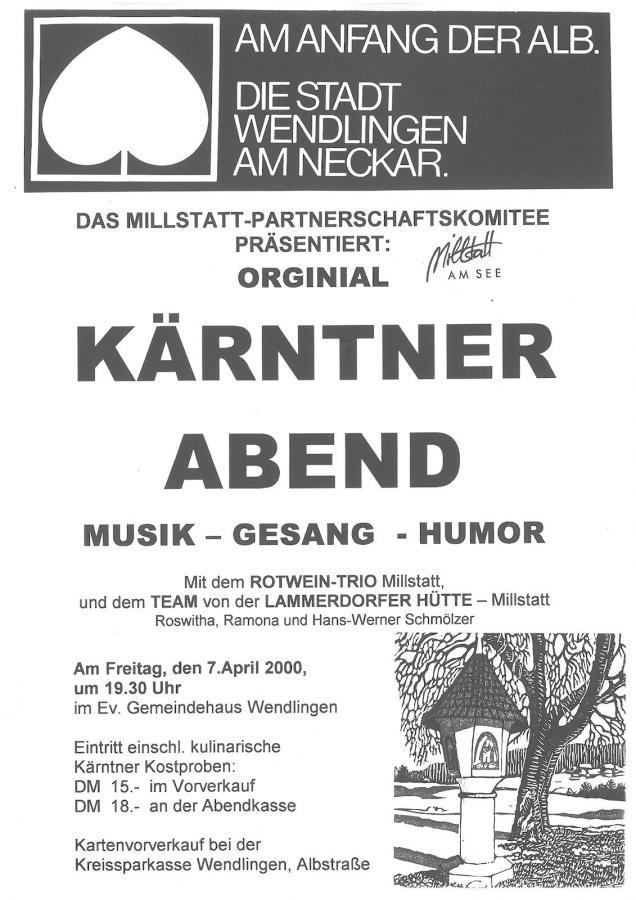 Plakat Kärntner Abend 07-04-2000