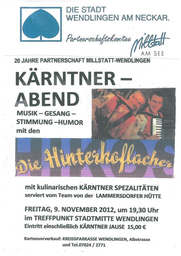 Plakat Kärntner Abend 09-11-2012