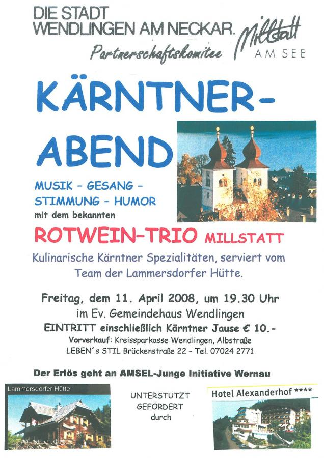 Plakat Kärntner Abend 11-04-2008