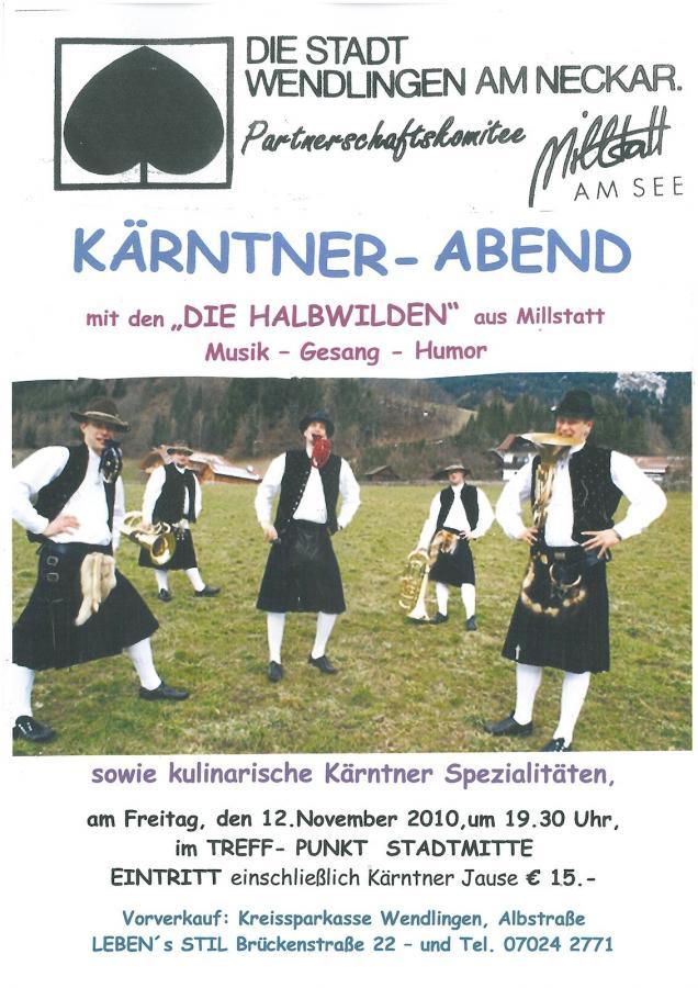 Plakat Kärntner Abend 12-11-2010