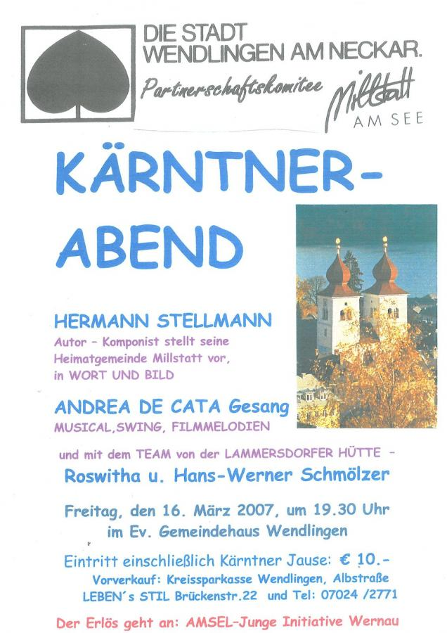 Plakat Kärntner Abend 16-03-2007