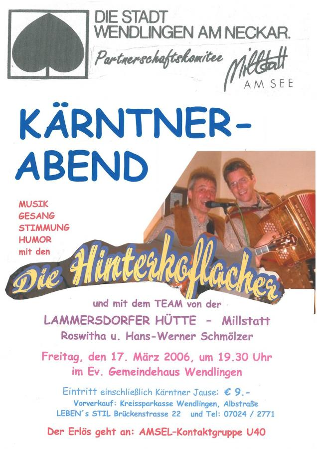 Plakat Kärntner Abend 17-03-2006