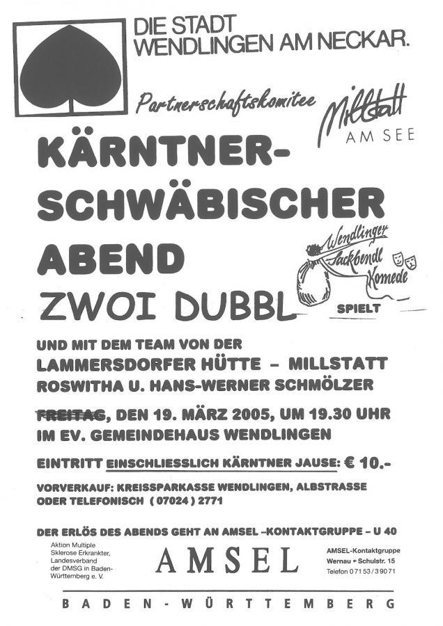Plakat Kärntner Abend 19-03-2005