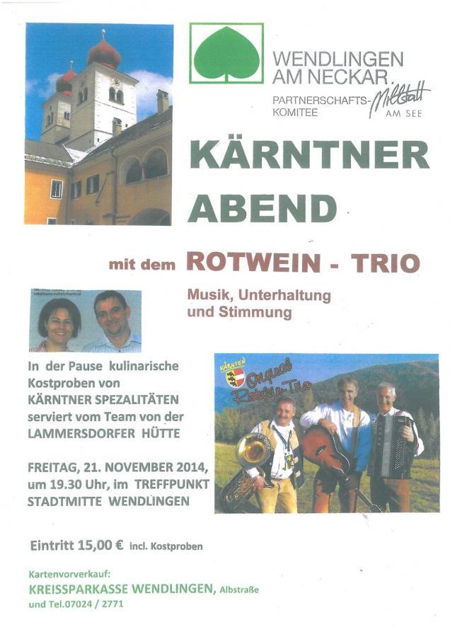 Plakat Kärntner Abend 21-11-2014