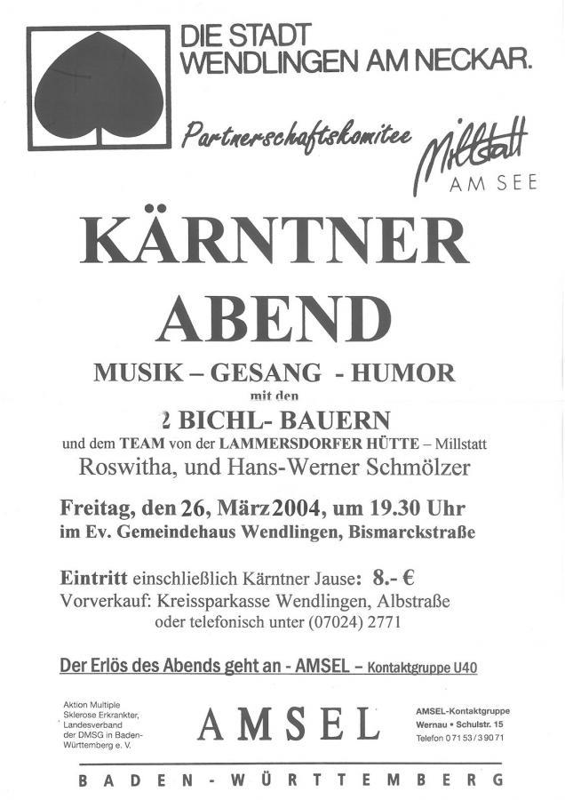 Plakat Kärntner Abend 26-03-2004