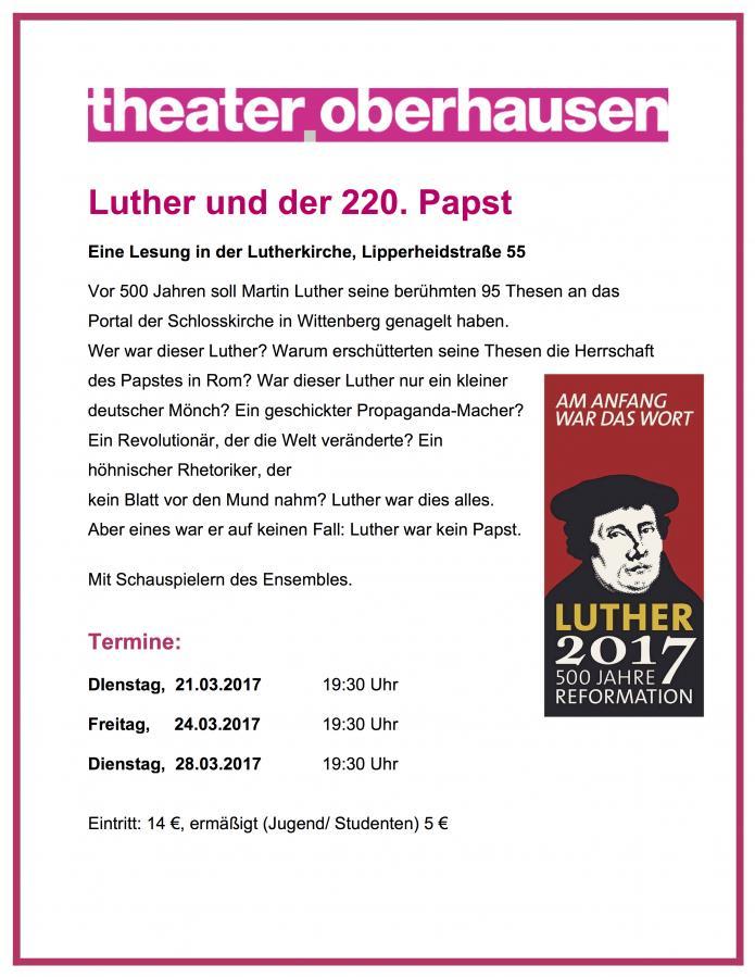 Luther und der 220ste Papst