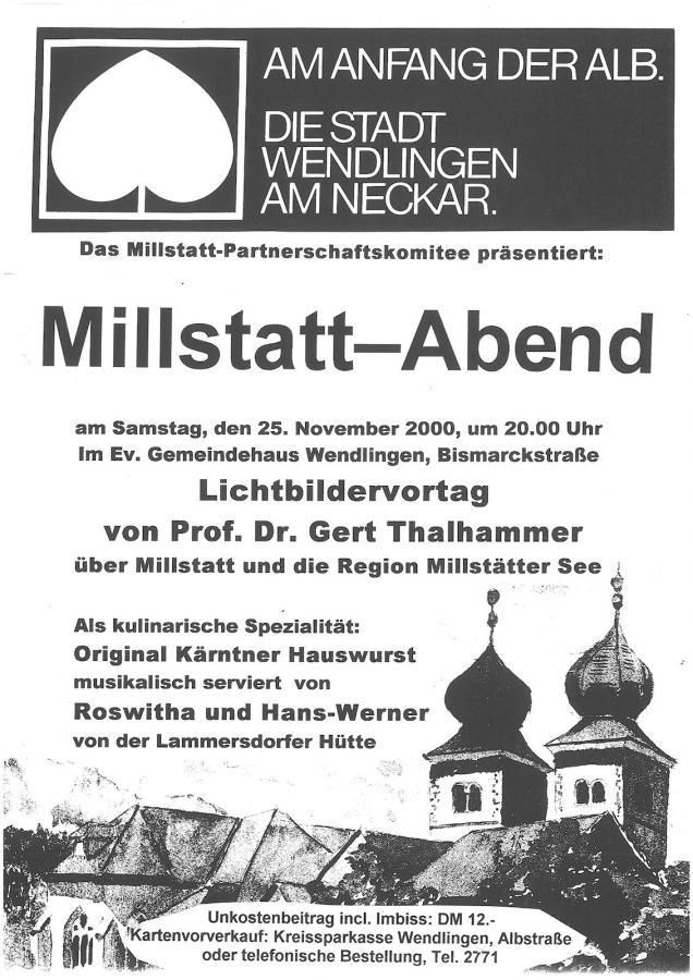 Plakat Millstatt-Abend 25-11-2000