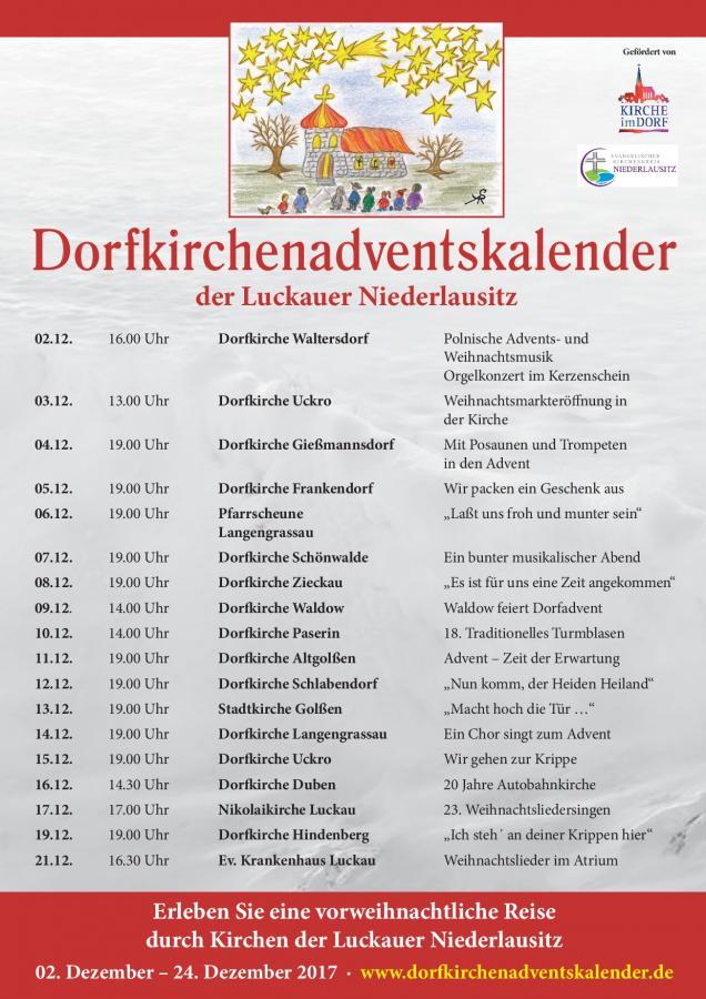 Dorfkirchenadventskalender 2017