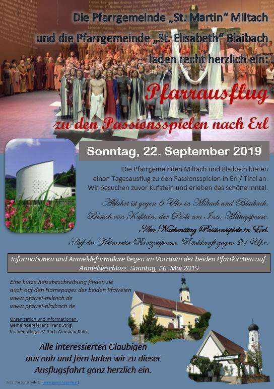 Pfarrausflug Passion 2019