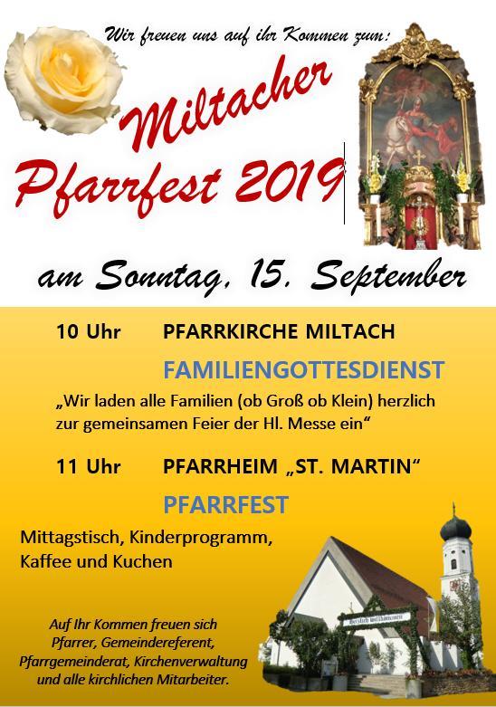 Pfarrfest Miltach 2019