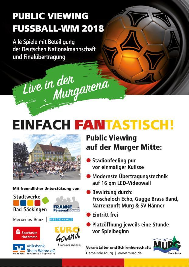 Public Viewing in der MurgArena