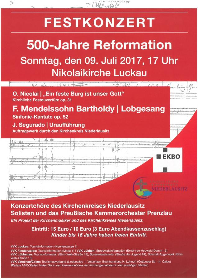 Reformationskonzert in Luckau