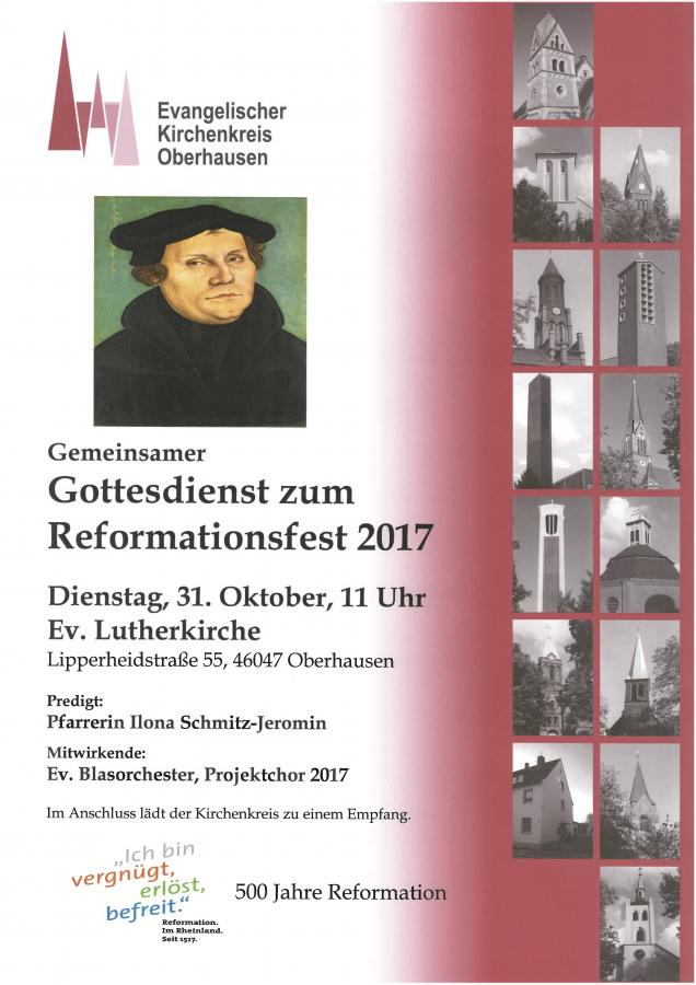 Gottesdienst zum Reformationsfest 2017