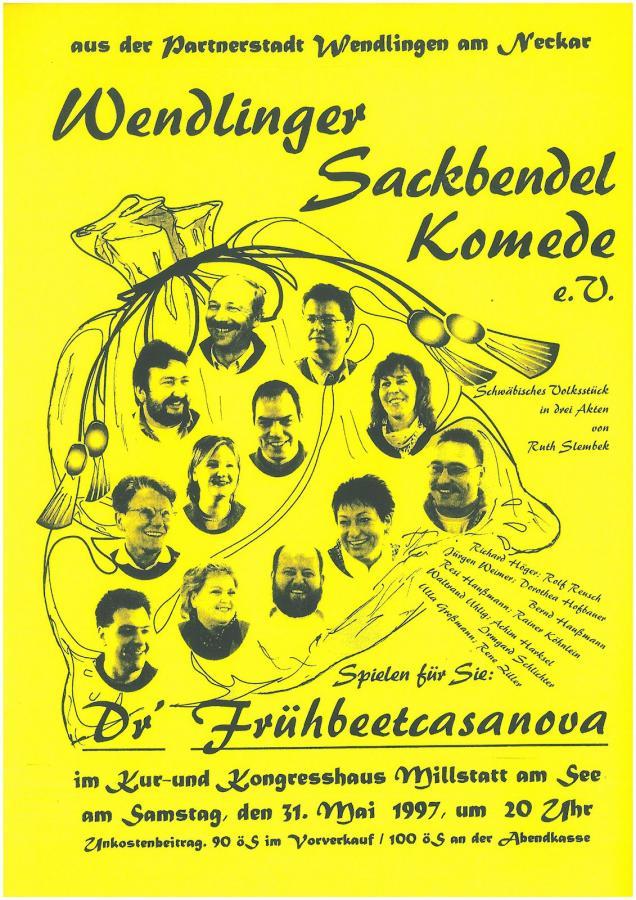 Plakat Sackbendl in Millstatt 31-05-1997