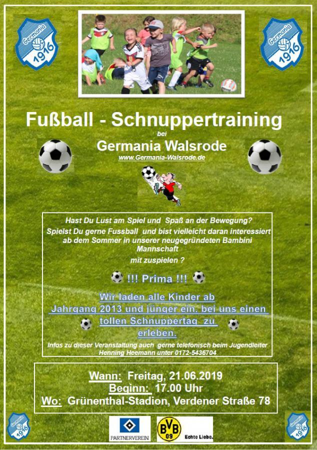 Plakat_Schnuppertraining G-Jugend 2019