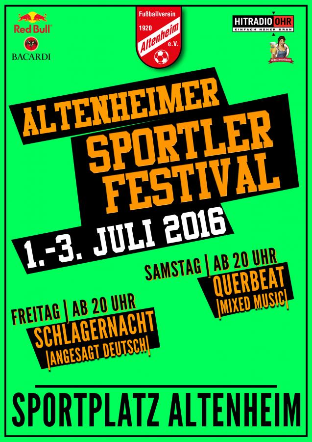 Plakat Sportfest 2016