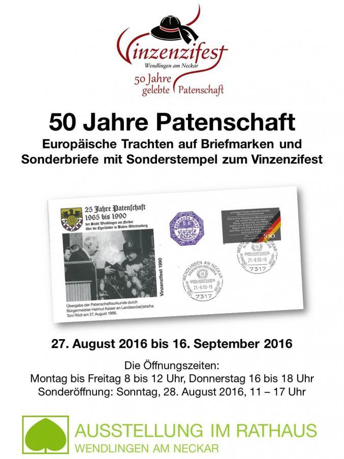 Plakat Vinzenziausstellung 2016 - 50 Jahre Patenschaft