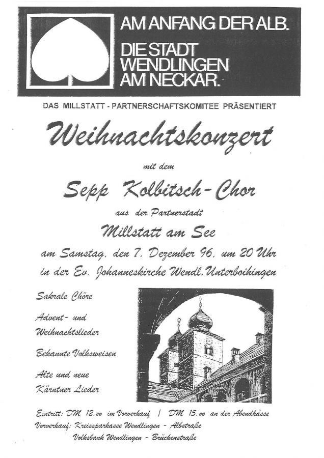 Plakat Weihnachtskonzert 07-12-1996