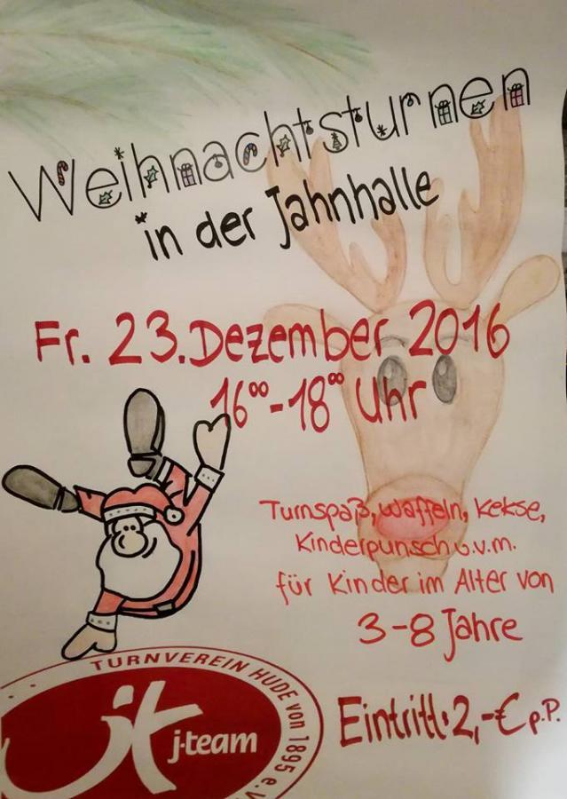 Plakat Weihnachtsturnen 2016