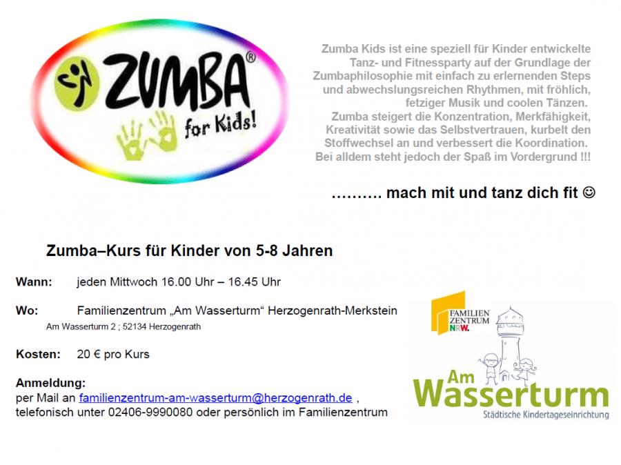 Plakat Zumba Kids Kurs Webseite