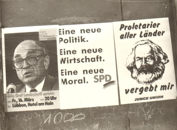 Dialog und Demokratie_Wahlplakate1990_Foto_Heil