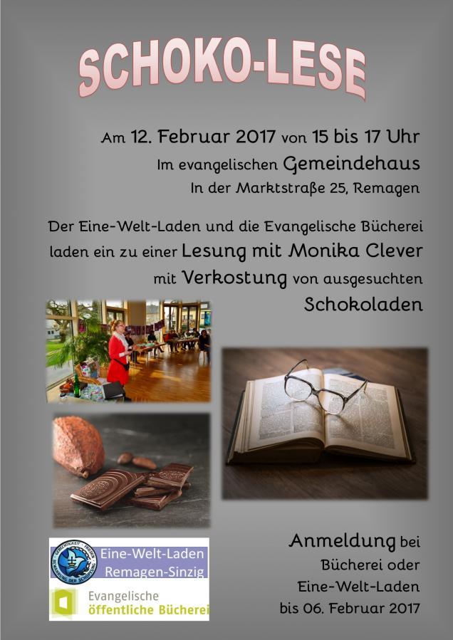 Plakat Schoko-Lese