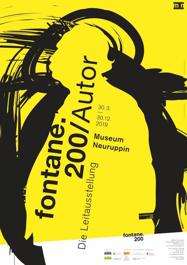 Plakat Leitausstellung fontane.200/ Autor