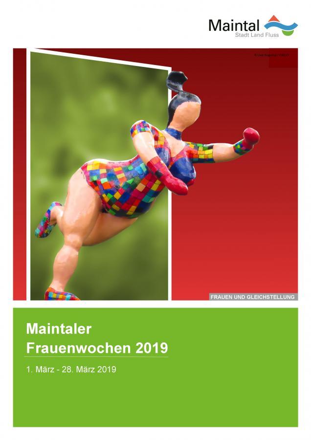 Externer Link zur pdf-Datei Maintaler Frauenwochen 2019; Bild zeigt das Plakat zur Aktion; Bild: Stadt Maintal und Uwe Wagschal / PIXELIO'