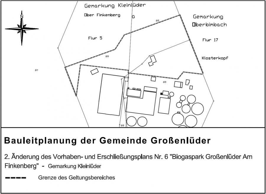 Übersicht Änderung B-Plan Biogaspark Finkenberg