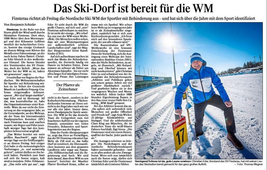 Das Skidorf ist Bereit für die WM  08.02.2017