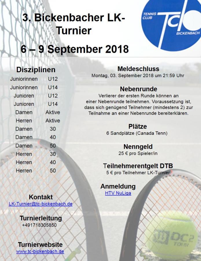 3 Bickenbacher LK-Turnier