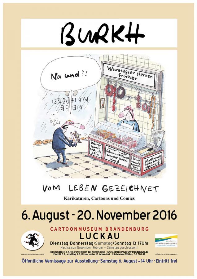 Plakat zur Ausstellung - Motiv von BURKH