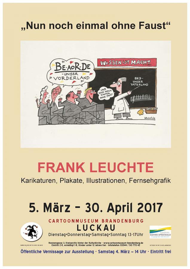 Plalat zur Ausstellung - Motiv von Frank Leuchte