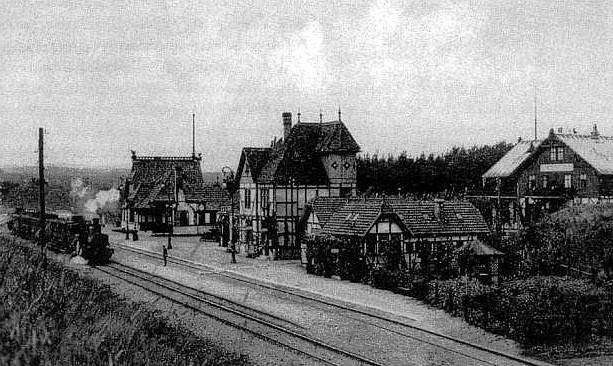Kaiserbahnhof auf einer Postkarte